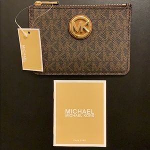 NEW Micheal Kors Small Leather Coin Pouch